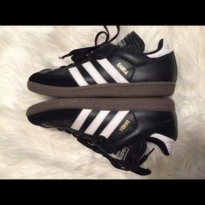 Men's Adidas Samba Black & WhitenShoes, Size 7.5